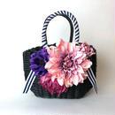 Flower Bag Silver M      ~Pink Dahlia〜