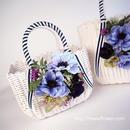 Flower Bag White M     【Anemone Blue】