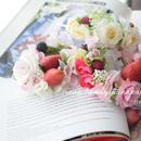ローズ&ベリー花かんむり
