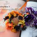 ハロウィン花かんむり