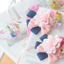 桜&ダリアのデニムチョーカー
