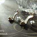 シンデレラの靴 - ストラップつきsilverピアス2点set(両耳用) - H