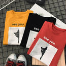 Tシャツ❤トップス 韓国オルチャン原宿系スタイル BF 半袖Tシャツ ルーズな形 ダボダボ! hdfks961348
