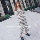 オールインワン❤ストライプが可愛い、手軽に着れます!韓国ファッションロンパース hdfks961231