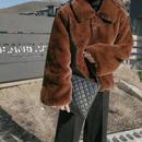 ボアジャケット❤アウター モコモコがとっても可愛い襟付きファージャケット hdfks961850