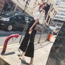 セットアップ❤オフショルダートップスとハイウエストのパンツが韓国大人ファッション! hdfks961401