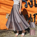 スカート❤透け感あるロング丈、春や夏にお似合いのスカート hdfks958167