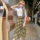 セットアップ❤半袖Tシャツと、とっても可愛いイエローティアードスカートのセット! hdfks961243
