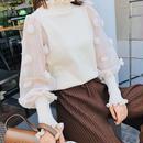 トップス❤袖のシースルーと花が可愛い韓国ファッション hdfks958141