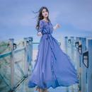 ワンピース❤韓国ドレス フリル可愛い女性らしい清楚なリゾートワンピ hdfks962042