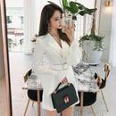 ワンピース❤袖フレアが可愛いホワイト、ブラックのジャケット風ショートワンピース hdfks961782