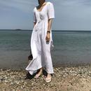 ワンピース❤シンプル無地の韓国ファッションナチュラルワンピ! hdfks961536