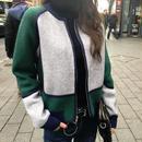 アウター❤ブルゾン 韓国ファッションお洒落なデザインスウェットブルゾン hdfks961729