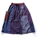 TIGRE BROCANTE ティグルブロカンテ ロータスシャツMIX ONEポケットスカート チャコール