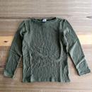 Tieasy(ティージー)/オーガニック ボートネック バスクシャツ Military Green