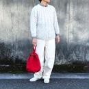 TIGRE BROCANTE(ティグルブロカンテ) 求心編み cable knit natural