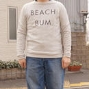 "RIDING HIGH(ライディングハイ) / LOWGAUGE INLAY MALIBU L/S SWEAT  ""BEACH BUM"" Gray"