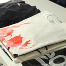 BPLJ × Leaddy フルシルクスクリーン[Swirl skull]Tシャツ マーブルプリント レッド