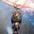 Silver Laughin' Helmet Necklace