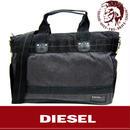 DIESEL ディーゼル 2Way ビジネス トート ショルダーバッグ グレー (8)