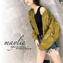 花柄刺繍入り MA-1ジャケット