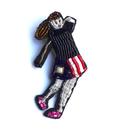 ゴルファー(女)  golfer lady | ビーズピンバッジ hand made beads pin