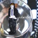 gentleman(ジェントルマン)  | ビーズピンバッジ hand made beads pin