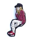 rock girl | ビーズブローチ hand made beads brooch