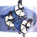 白いワンピースのパリジェンヌ white dress girl | ビーズブローチ Hand made beads brooch