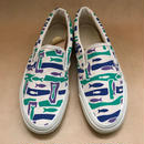 Deadstock 1990年代 アメリカ製 VANS SLIP ON OCEANIC STENCIL BLUE size 9