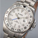 Bliger 自動巻 機械式時計 ブルーGMT セラミックベゼル