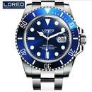 LOREO 自動巻腕時計 200m防水 機械式 サファイアクリスタル
