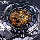 T-WINNER 機械式腕時計 メンズ 自動巻 クラシック  裏スケルトン