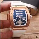 リシャールミル風 メンズ 自動巻 機械式腕時計 サファイアクリスタル ラバーストラップ RM69