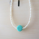 Grass Beads Necklace (sky blue)