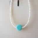 Grass Beads Necklace (sky blue)
