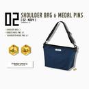 【数量限定再販:6月末発送】メダロッターズショルダーバッグ - メダルピンズ付き -  02 ネイビー