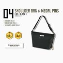 【数量限定再販:6月末発送】メダロッターズショルダーバッグ - メダルピンズ付き -  04 ブラック