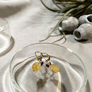 Clear Eme - Pierced Earrings and Earrings - Citrine, Lapis