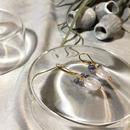 Clear Eme - Pierced Earrings and Earrings - Rose, Tanzanite