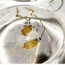 Column - Pierced Earrings and Earrings - Citrine, Lapis