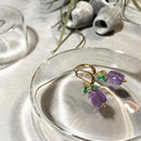 Clear Eme - Pierced Earrings and Earrings - Amethyst, Green