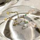 Column - Pierced Earrings and Earrings - Rose, Green