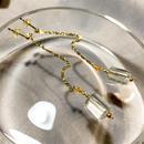Column - Pierced Earrings and Earrings - Green amethyst, Carnelian