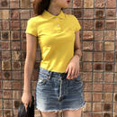 BURBERRY yellow logo polo shirt