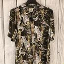 虎さんと竹のアロハシャツ OLIVE