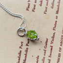 GemStone Necklace  -Peridot- 8mm インクルージョン入