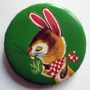 お食事ウサギ缶バッチ(カラフルアニマル)