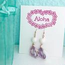 purple shell earrings...❤︎