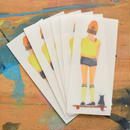 cat skate girl sticker